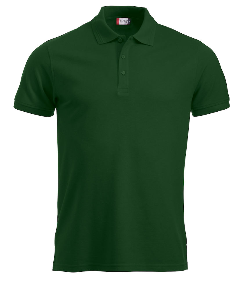 Classic polo polyester/katoen bottle green