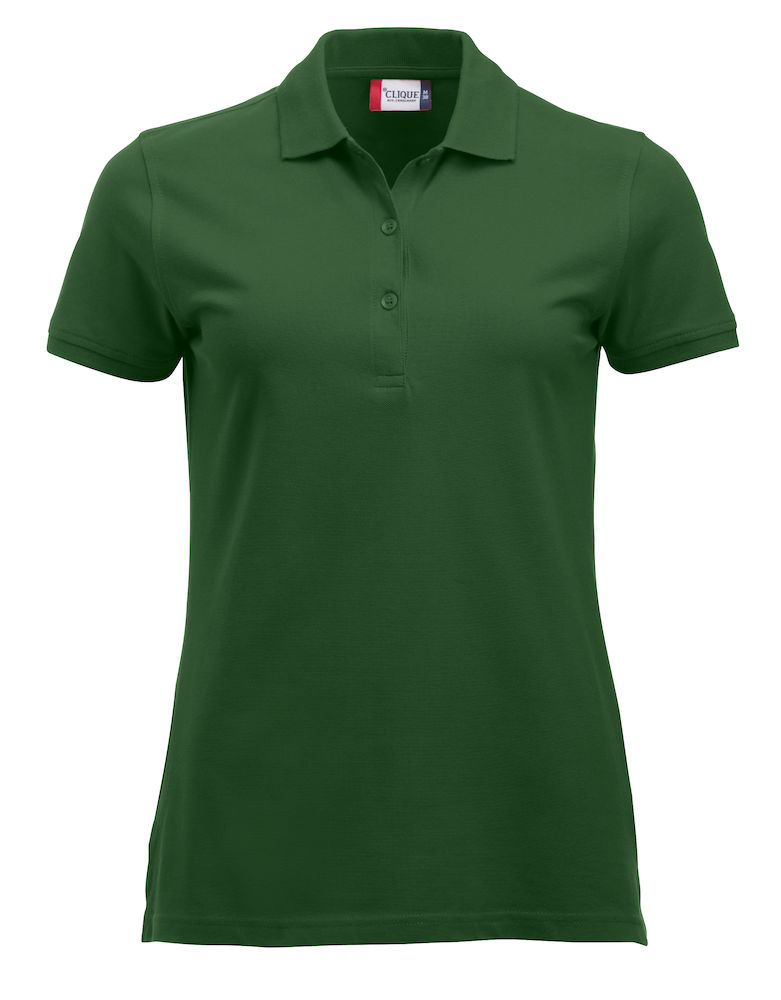 Classic dames polo bottle green