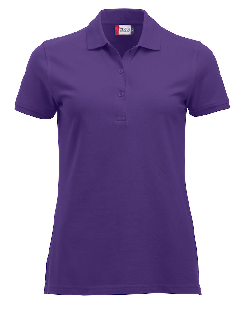 Classic dames polo helder-lila