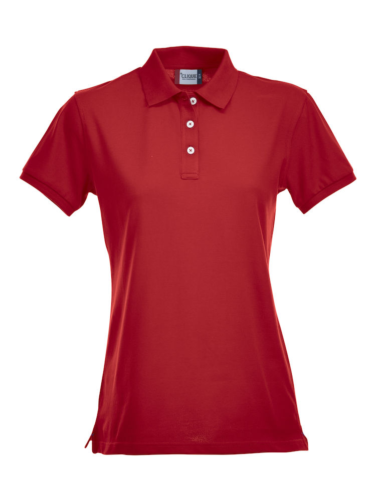 Premium dames stretch polo rood