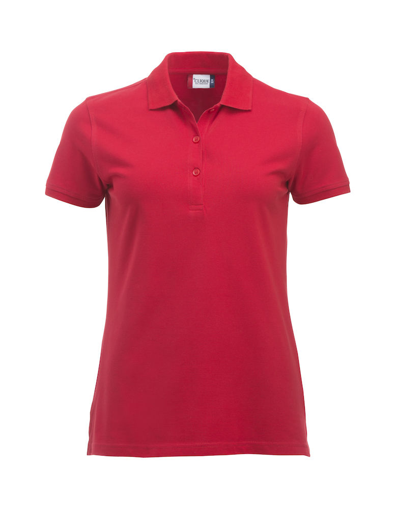 Classic dames polo rood