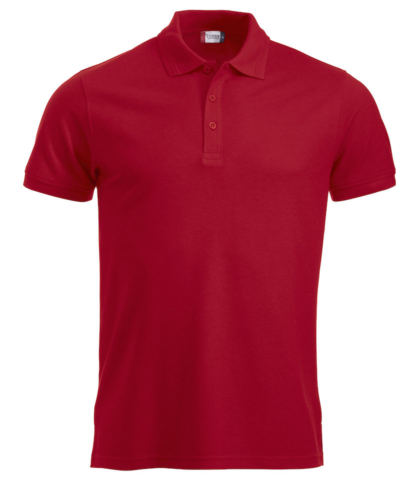 Classic polo polyester/katoen rood