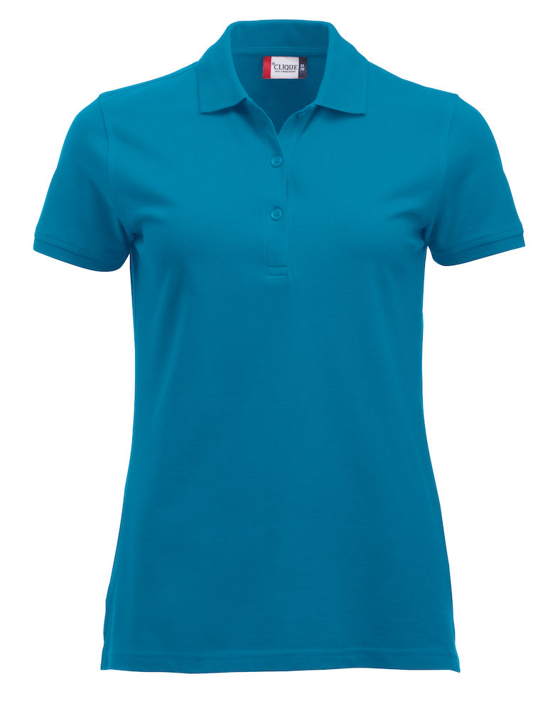Classic dames polo turquoise
