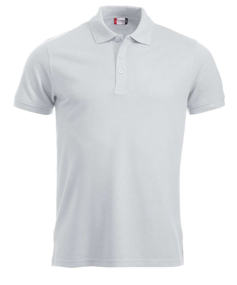 Classic polo polyester/katoen wit